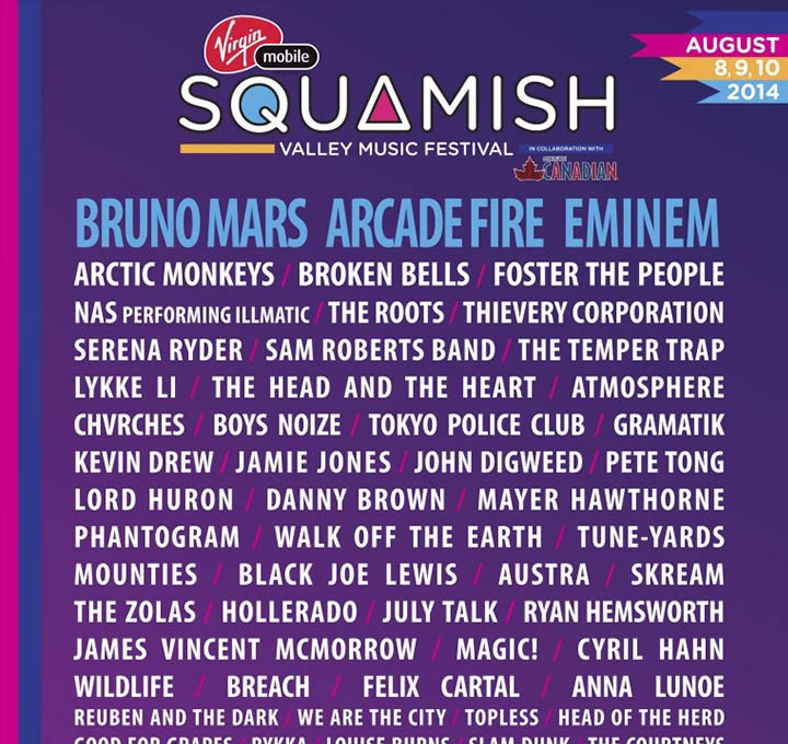 NEW ARTISTS ADDED TO JAM PACKED SQUAMISH VALLEY MUSIC FESTIVAL LINEUP