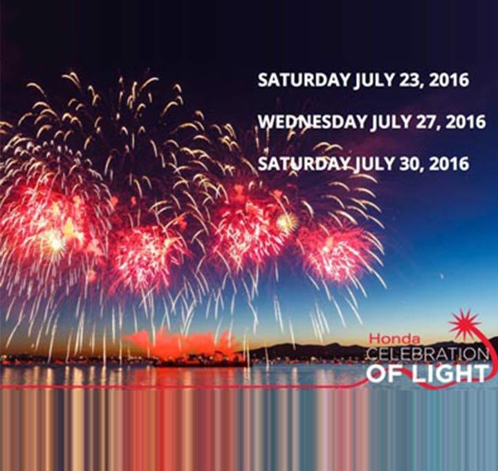 HONDA CELEBRATION OF LIGHT ANNOUNCES 2016 LINE-UP!